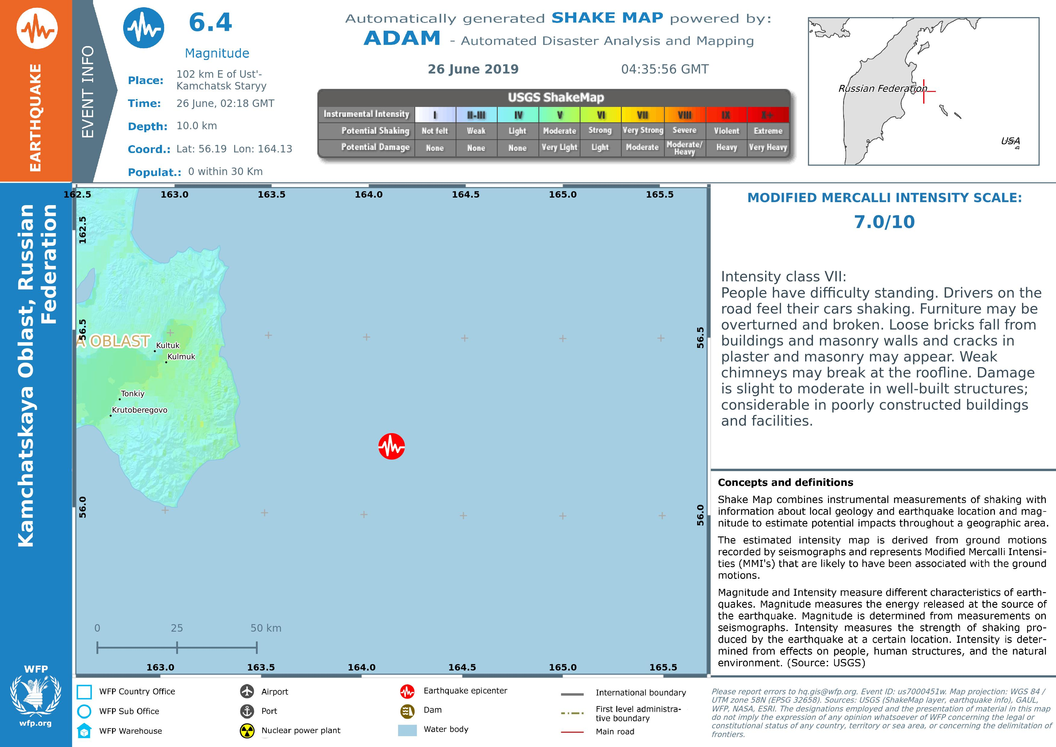 Overall Green Earthquake alert in Russian Federation on 26 ... on russia japan map, russia flood map, russia pollution map, russia weather map, russia volcano map, russia environment map, russia 1941 map, russia airport map, russia wildfires map, russia meteor map,
