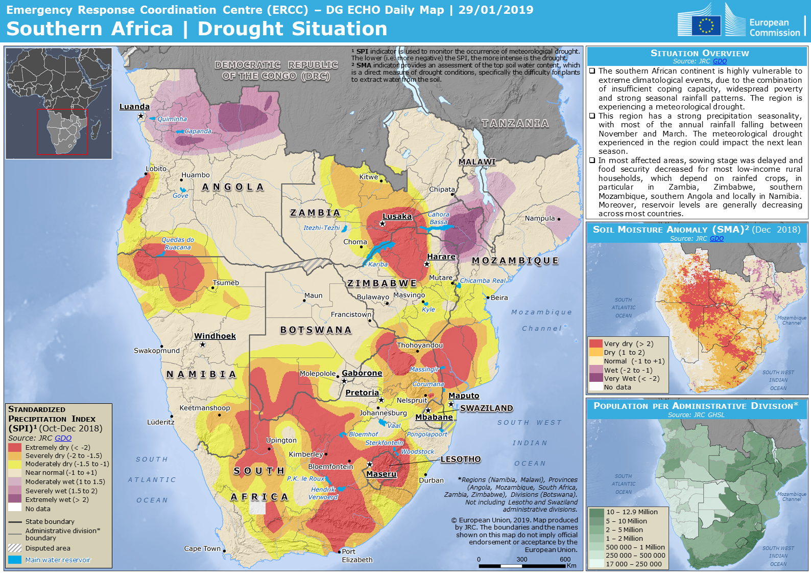 Overall Orange Drought alert for Southern Africa-2018 in ...