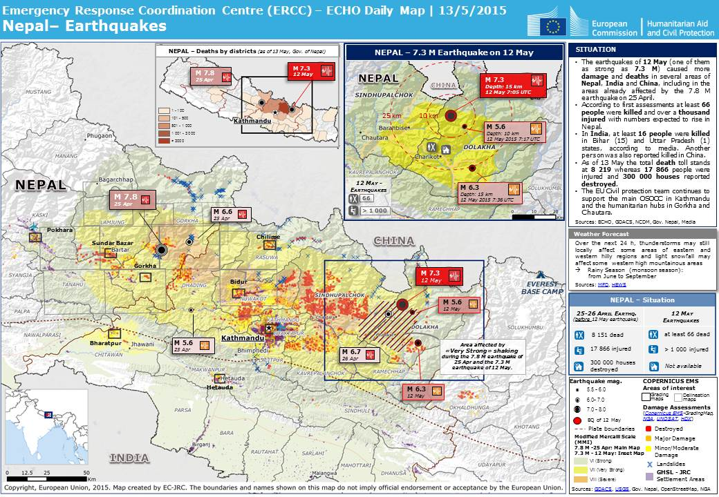 Overall red earthquake alert in nepal on 12 may 2015 0705 utc nepal earthquakes update gumiabroncs Image collections