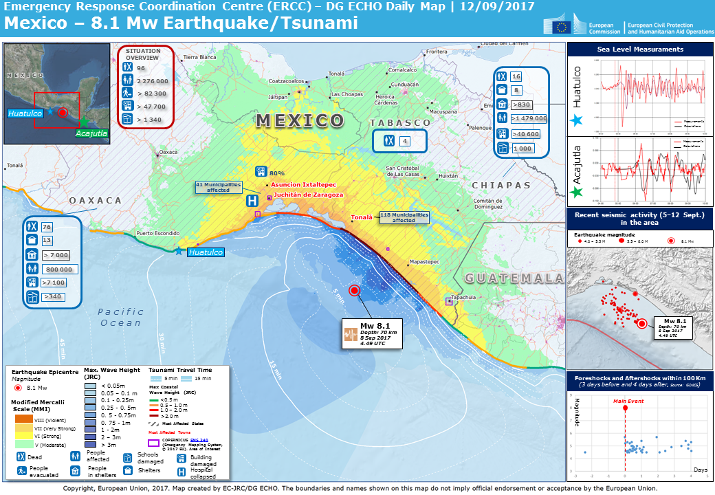 Overall Orange Earthquake Alert In Mexico On 08 Sep 2017 04 49 Utc