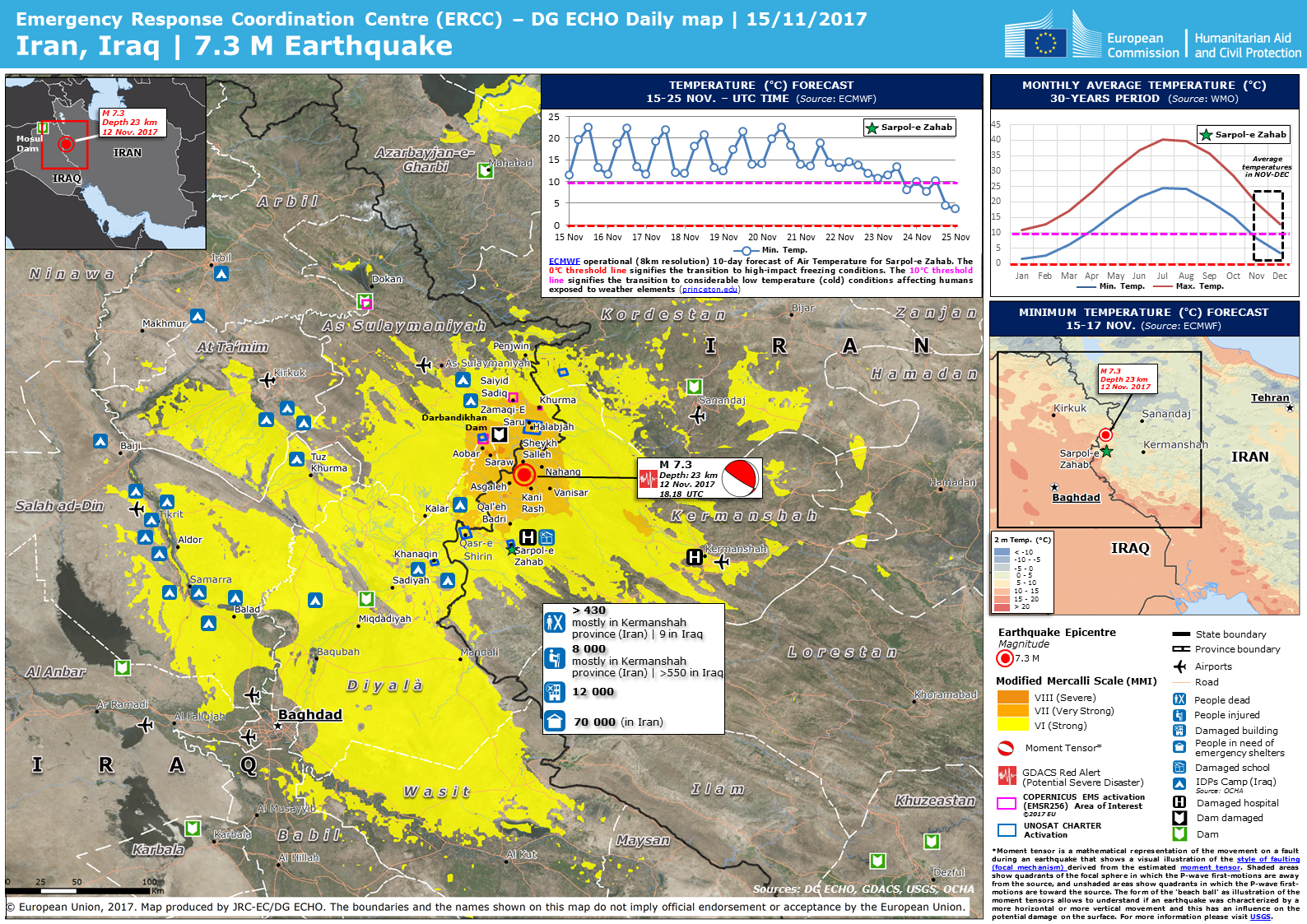 Overall red earthquake alert in iran islamic republic of from 12 iran iraq earthquake gumiabroncs Gallery