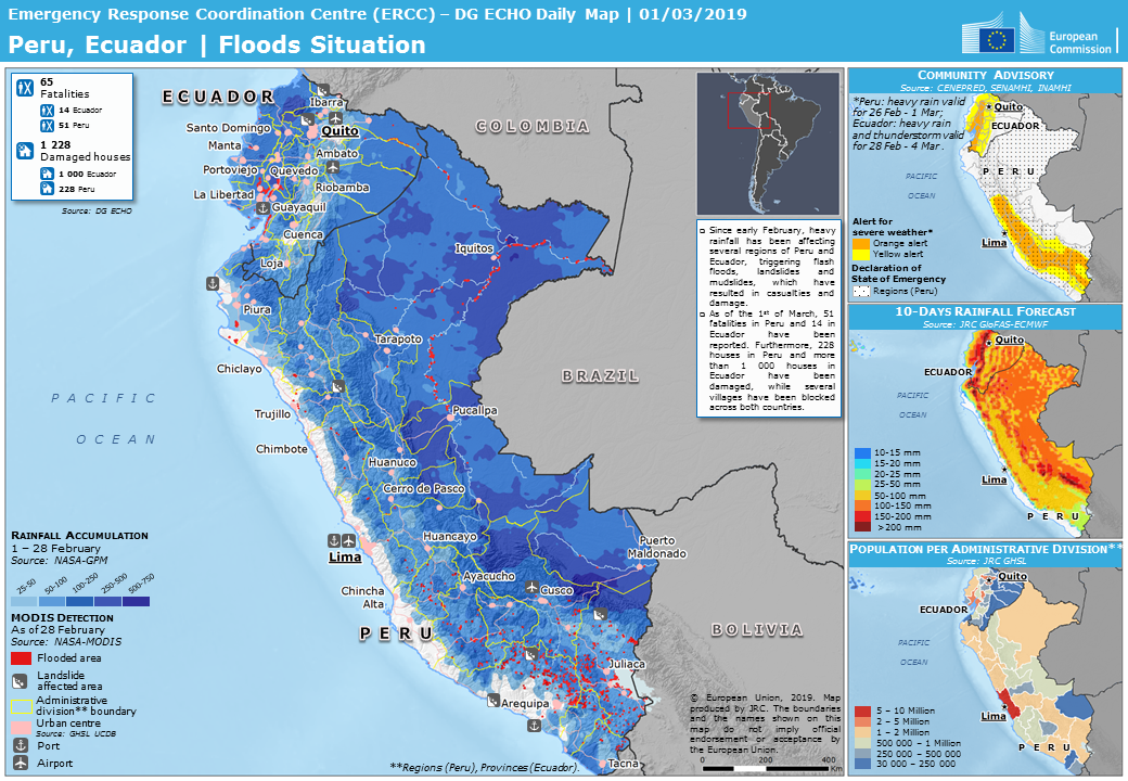 Peru Weather Map.Overall Green Flood Alert In Peru From 07 Feb 2019 00 00 Utc To 02