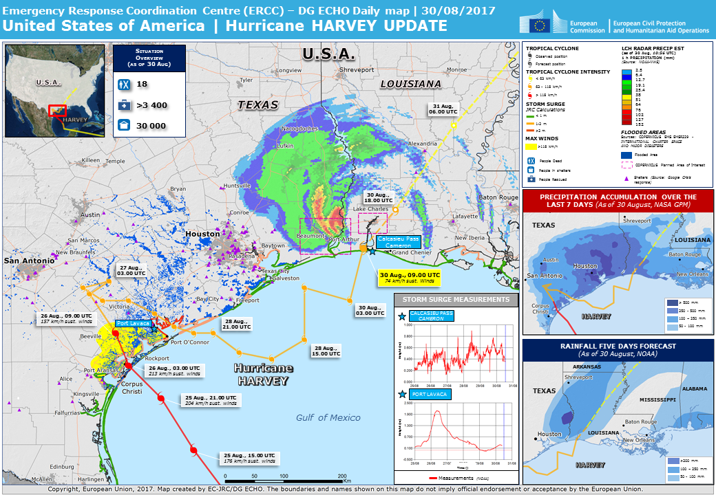 Overall Orange Tropical Cyclone Alert For Harvey 17 In United States
