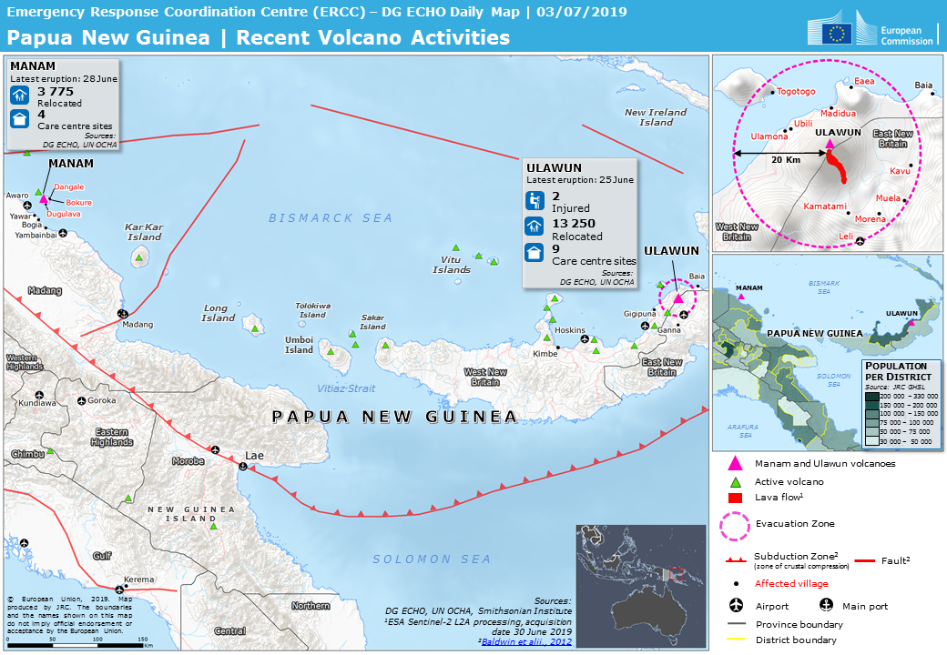 Overall Green Volcanic Eruption Alert For Ulawun In Papua