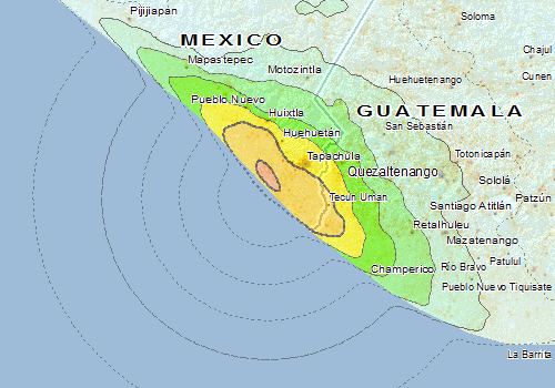 Mapastepec Mexico Map.Overall Green Earthquake Alert In Mexico From 07 Jul 2014 11 23 Utc