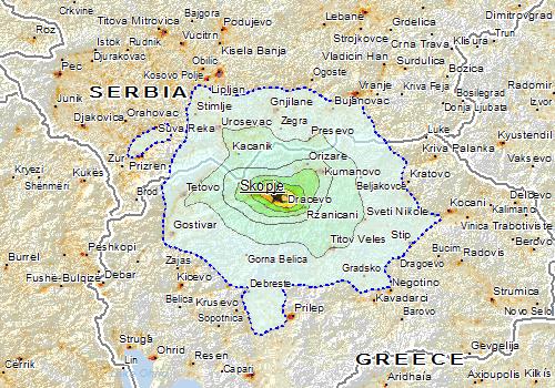 Overall Green Earthquake alert in Macedonia The Former Yugoslav