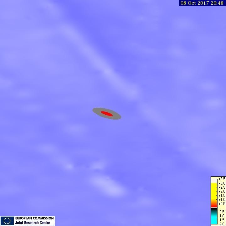 Tsunami maximum wave height