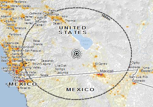 Population map close up