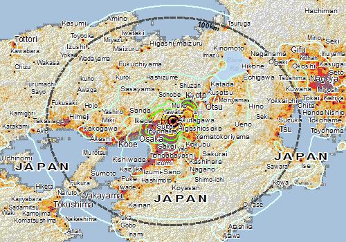Overall Green Earthquake alert in Japan on 17 Jun 2018 22:58 UTC