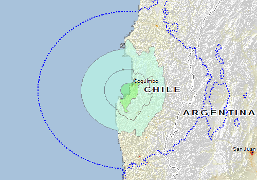 Image result for 6.7 magnitude earthquake hits Tongoy, Coquimbo Region in Chile