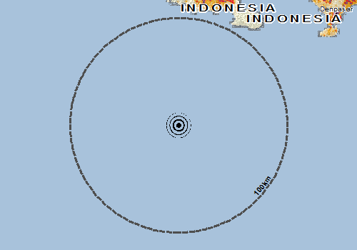 Overall Green Earthquake alert in Indonesia on 12 Aug 2019 08:31 UTC