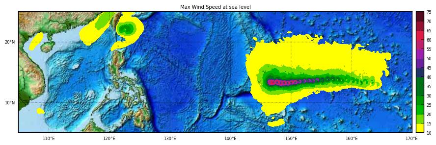Max windspeed HWRF