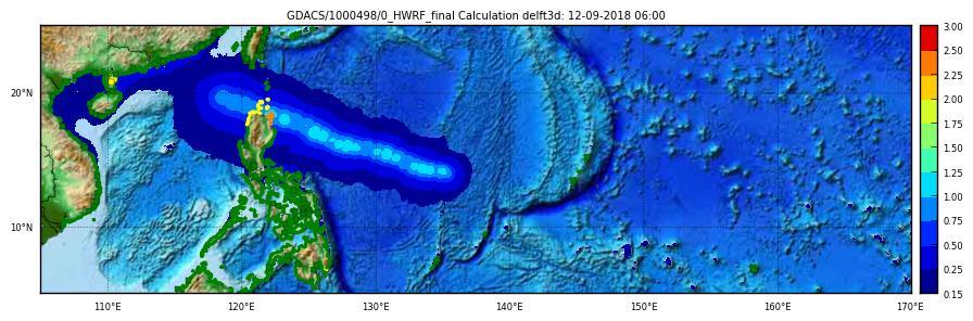 Storm surge maximum height HWRF