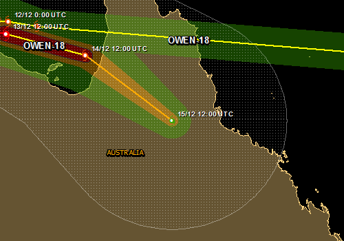 Overall Green Tropical Cyclone alert for OWEN-18 in