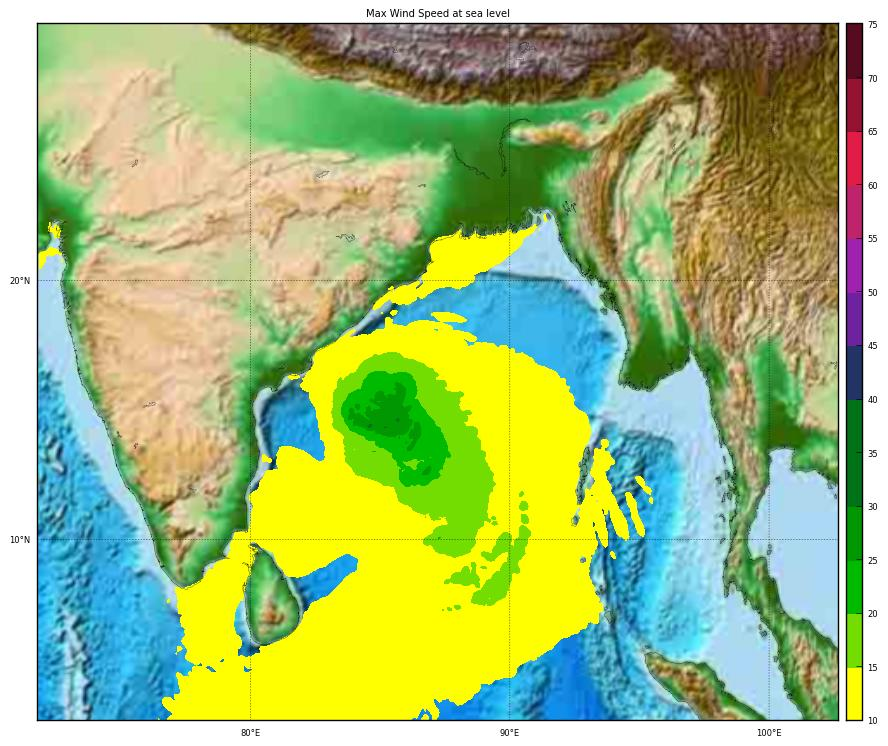 Overall Red Tropical Cyclone alert for FANI-19 in India from