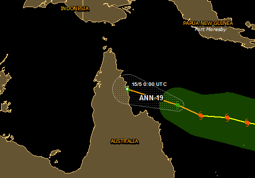 Overall Green Tropical Cyclone alert for ANN-19 Off-shore