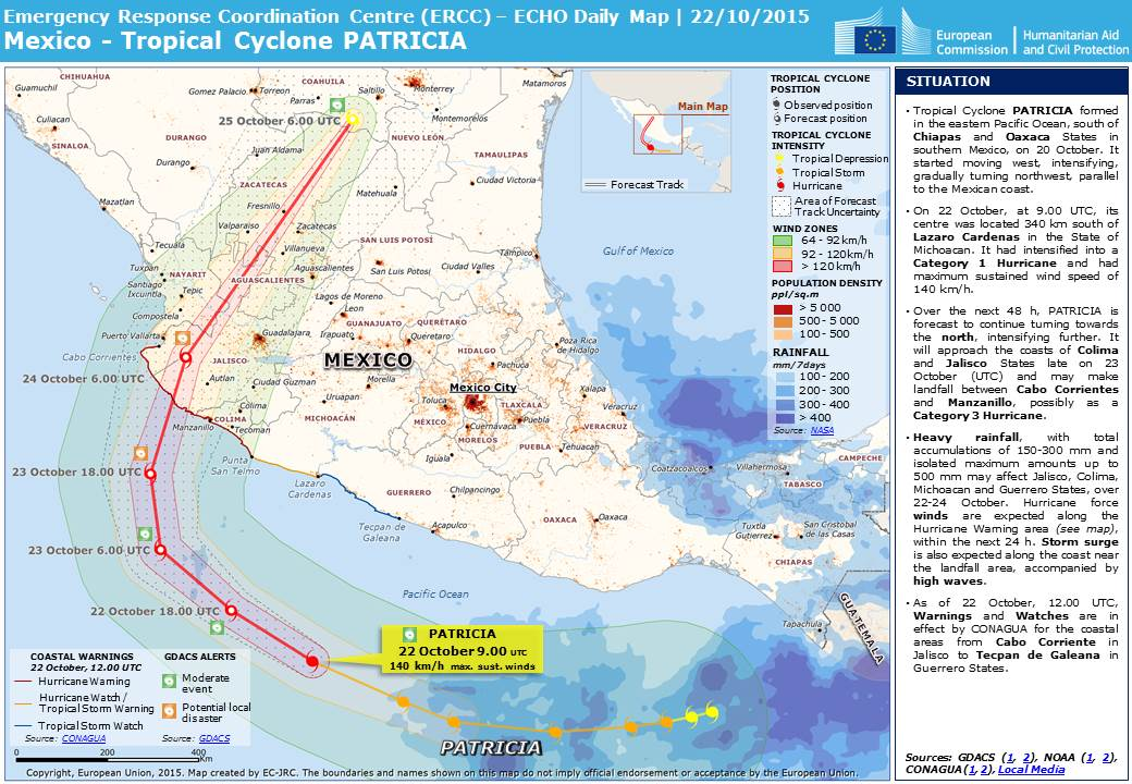 Natural Hazard  Extreme Weather Event Tropical Cyclone PATRICIA